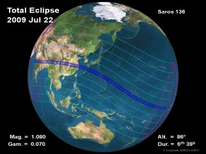 Follow the path of the solar exclipse
