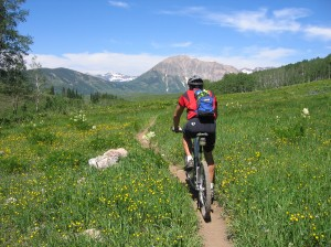 Image from Medtronic.com: Louisville, CO, is a great place for bike riders.