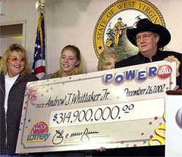 Before 2007, Jack Whittaker was the biggest lottery winner of all time. He won in 2002. Photo url:  www.bankrollmob.com/poker-news/2009716/americ...