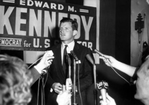Ted Kennedy campaigning in 1962 (Photo: commons.wikimedia.org)