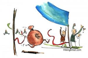 Short-term loans win the money race! (photo by HikingArtist.com)