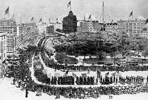 Labor Day in New York, 1882 (Photo: commons.wikimedia.org)