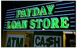 Payday Loans have the green light when it comes to going where the financial need is greatest. Access to conventional credit plays a large role. (Photo: flickr.com)