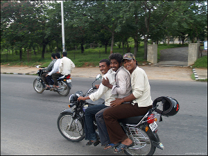 Lack of suitable public transportation and roads in India makes two wheelers important. Secured loans play a big role in financing such purchases. (Photo: flickr.com)