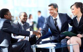 Men shake hands on fast cash deal