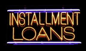 Installment loan street sign