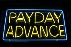 payday cash advance store sign