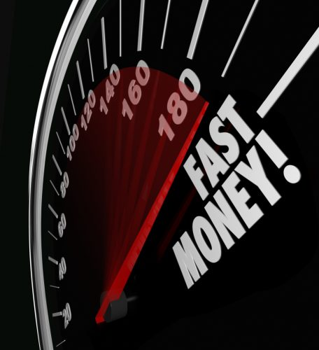 Fast and Easy Payday Loans on a Fast Money Speedometer