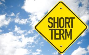 short term loans street sign