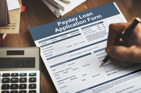 Man applying for easy payday loans